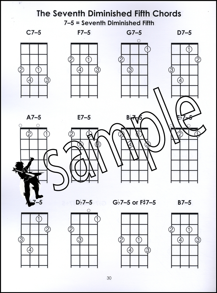 Left-Handed Tenor Banjo Chords 4-String Chord Book Mandola