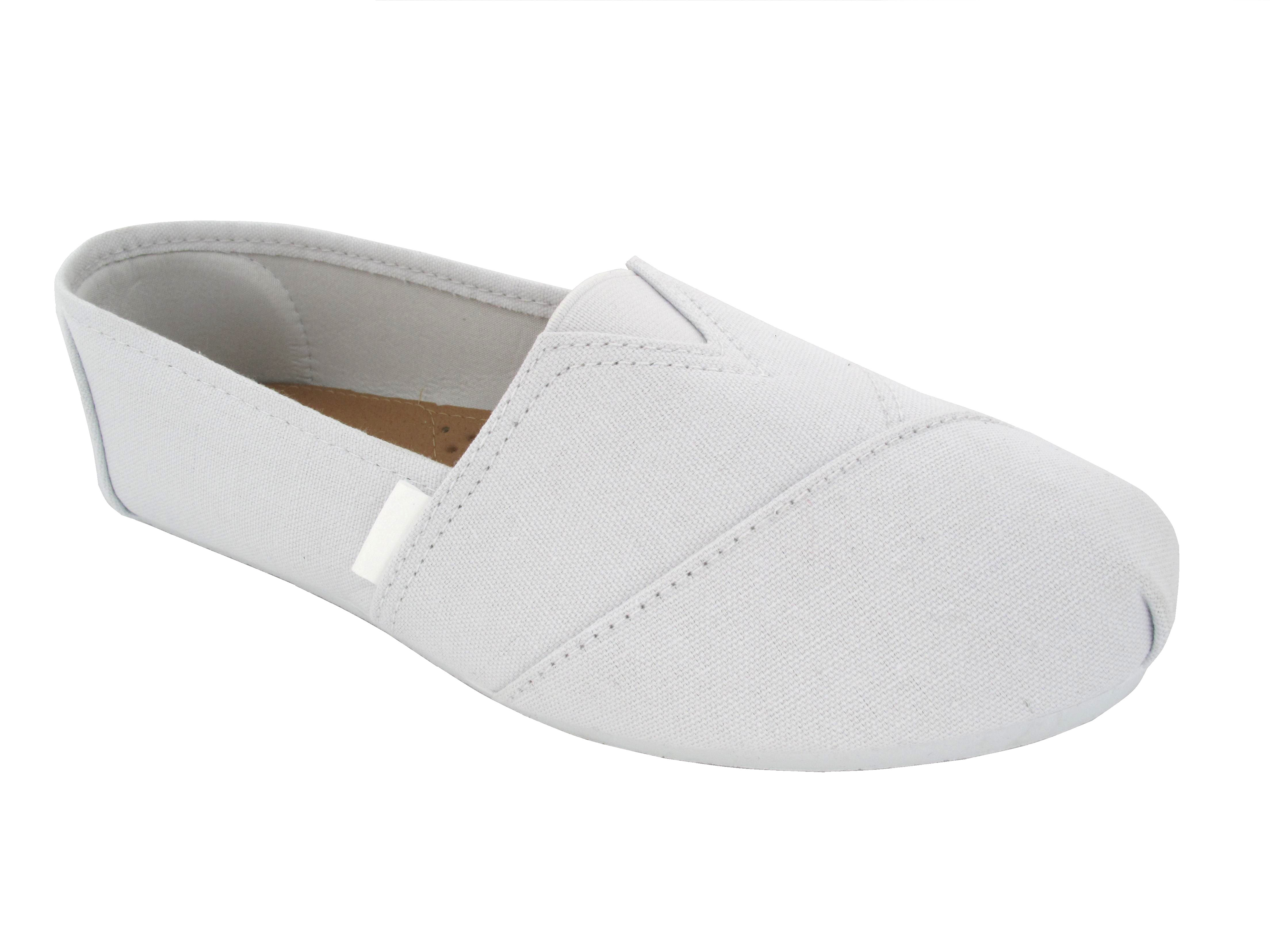 Ladies White Slip On Shoes