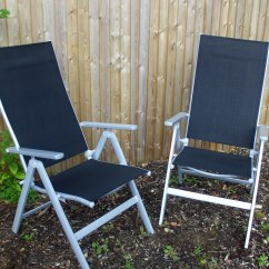 Fold Up Reclining Lawn Chairs What Is The Height Of A Chair Rail 2 X Luxury Malibu Folding Garden Patio Ebay