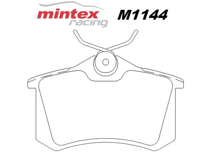 Mintex M1144 For Volkswagen Golf 1.8 MK 2 GTi 86>92 Rear