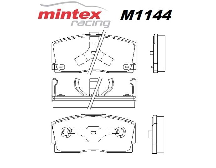 Mintex M1144 For Daihatsu Charade 1.0 GT ti 87>93 Front