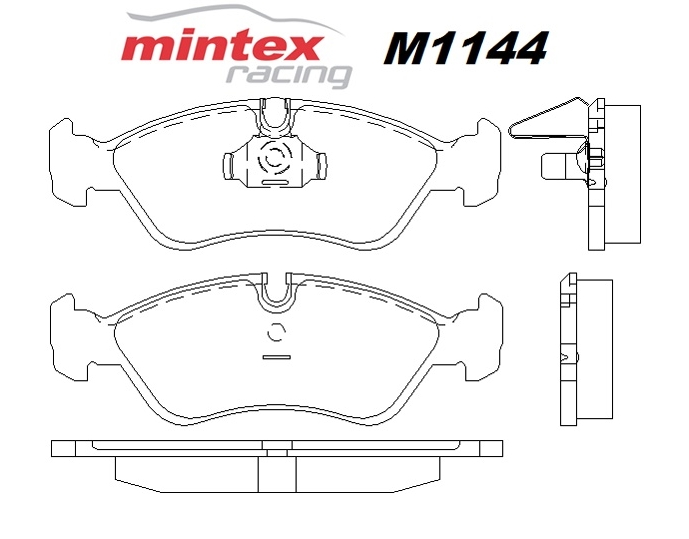Mintex M1144 For Opel Vectra 2.0 B DTi 99>00 Front Race