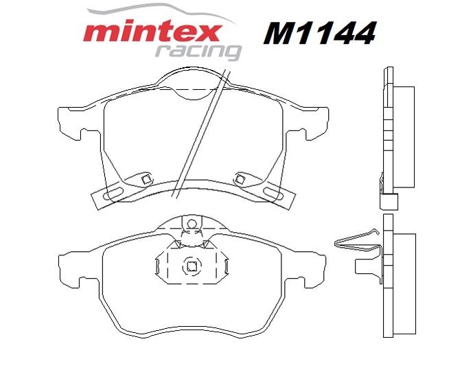 Mintex M1144 For Opel Astra 1.8 MK 4 Dual Fuel 02>03 Front