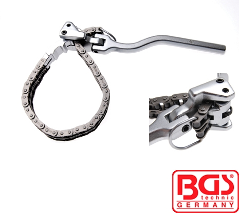 BGS Tools Heavy Duty Oil Filter Chain Wrench 60-160mm 1011