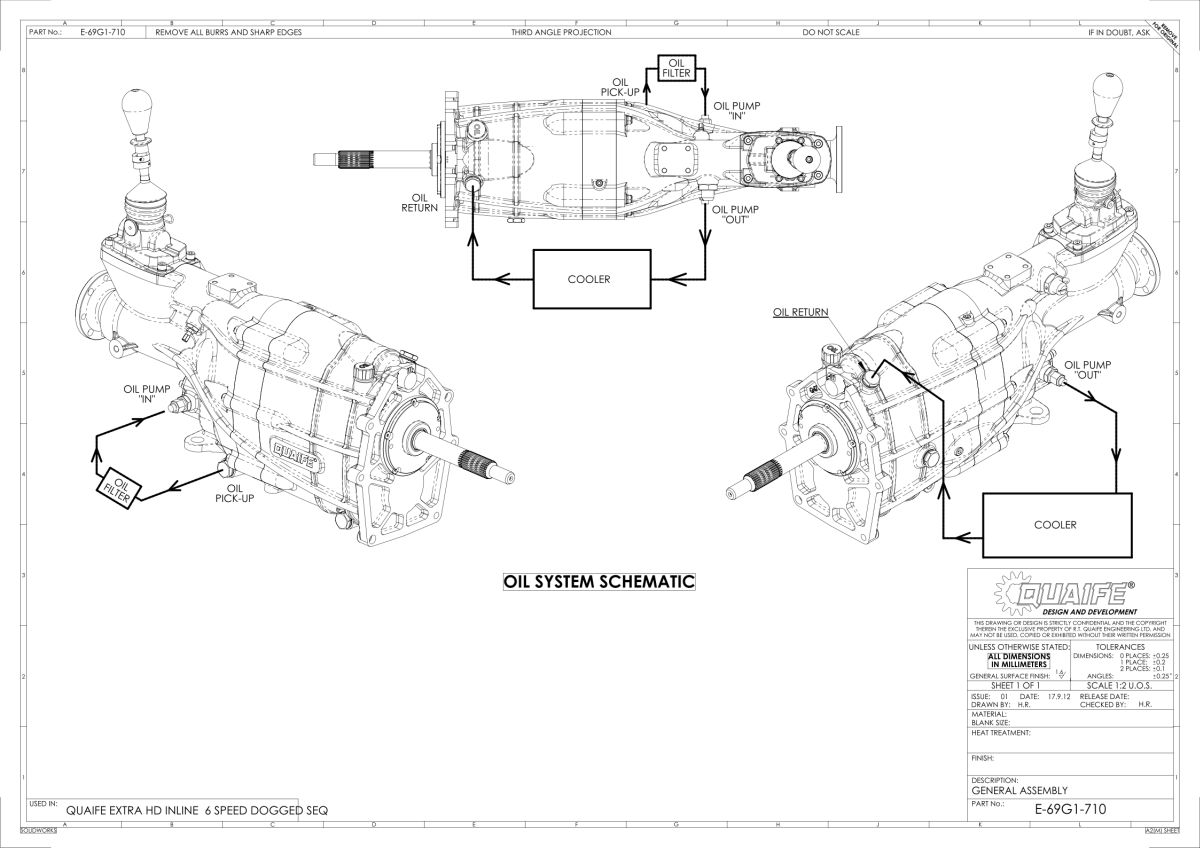 Quaife For Nissan RB25 6-Speed HD Sequential Gearbox