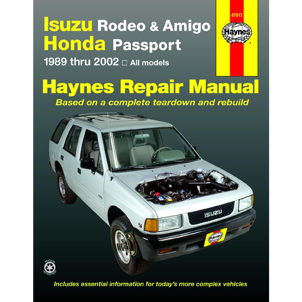 medium resolution of isuzu rodeo 1991 2002 haynes usa workshop manual