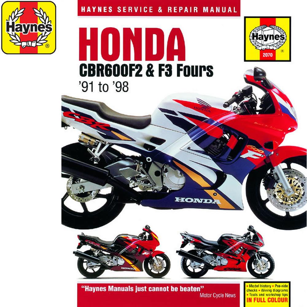 hight resolution of  2070 honda cbr600f2 cbr600f3 fours 1991 98 haynes workshop manual