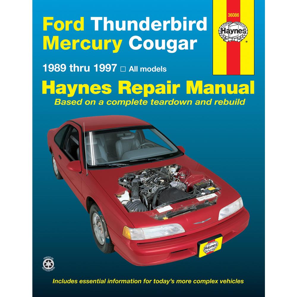 medium resolution of mercury cougar 1989 1997 haynes usa workshop manual