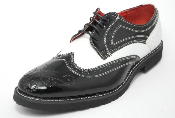 Mens Patent Shiny Leather Spats Brogues Gatsby Shoes