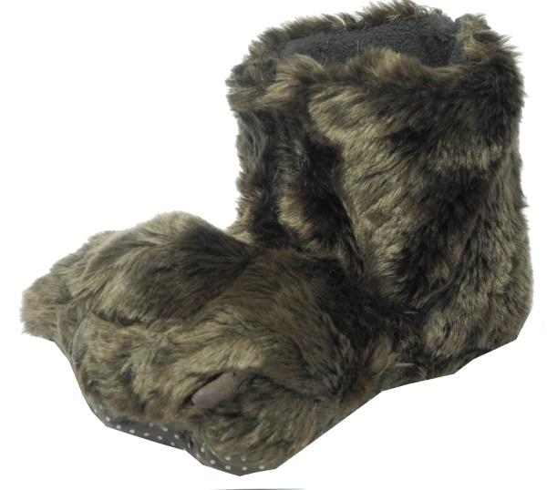 Boys Girls Novelty Fur Animal Furry Monster Feet Slippers