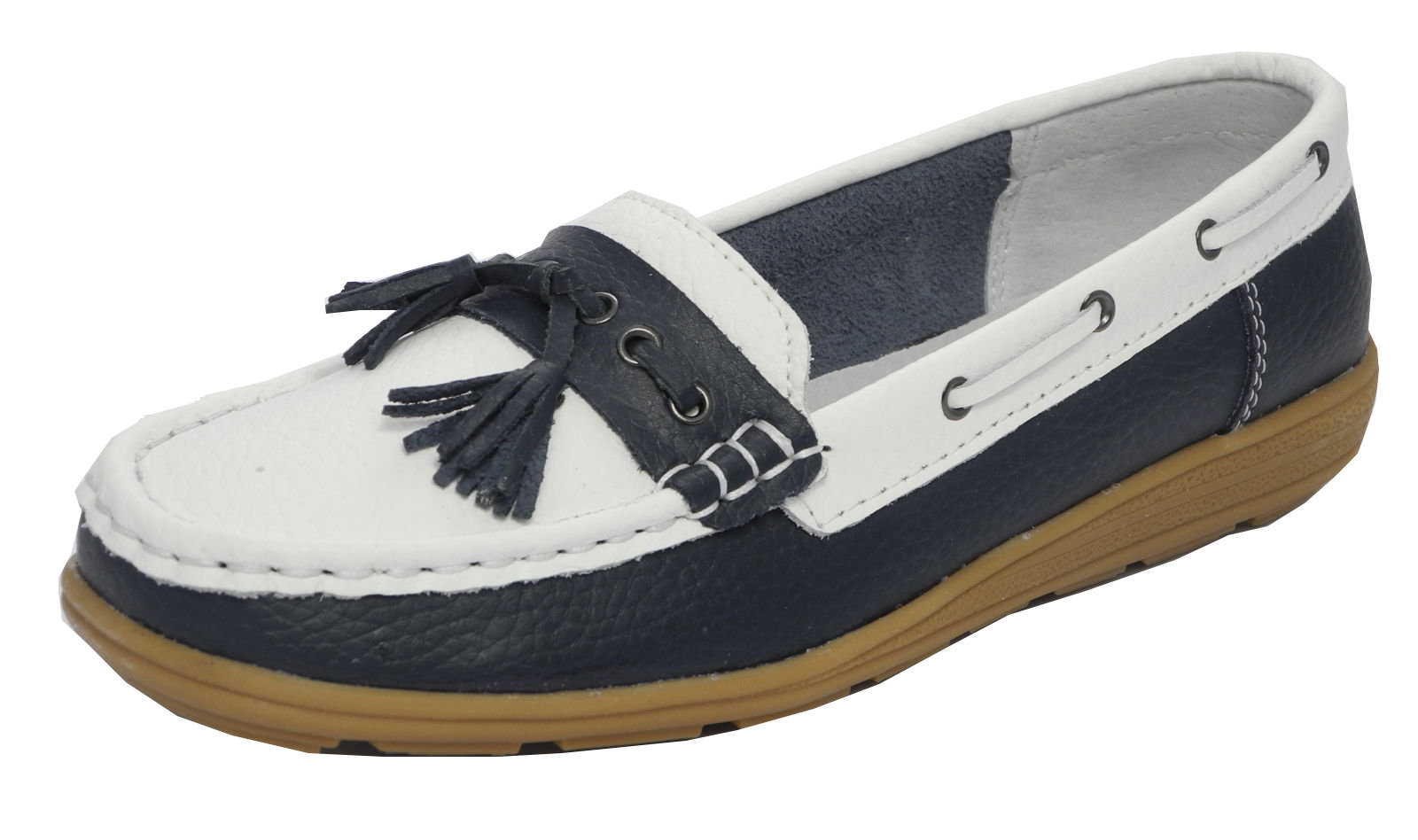 Womens Navy Blue Slip On Shoes