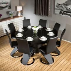 Z Shaped High Chair Dxr Racer Modern Large Round Black Oak Dining Table 438 Shape