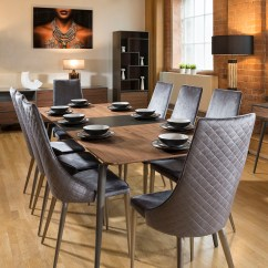 High Back Grey Velvet Dining Chairs Feminine Home Office Set Of 2 Sleek Modern
