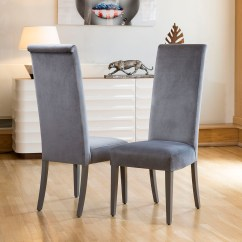 High Back Grey Velvet Dining Chairs Recliner Chair Covers Uk Quatropi Top Quality Set Of 8 Sentinel Stk