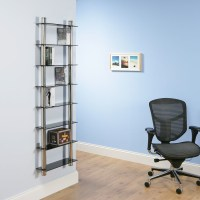DVD Rack/Racks / Bookcase/ black glass shelving Chrome