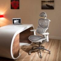Ergomomic Luxury Grey Mesh Office Back Support Butterfly ...