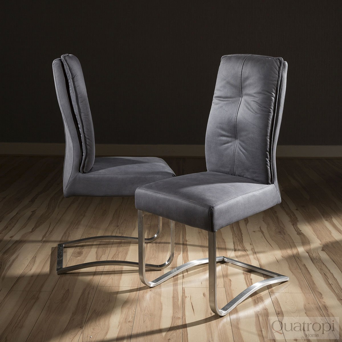 Super Comfy Chair Set Of 2 Large Padded Super Comfy Modern Dining Chairs