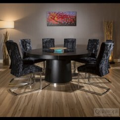 Large Round Oak Dining Table 8 Chairs The Human Chair Luxury Black Velvet Extra