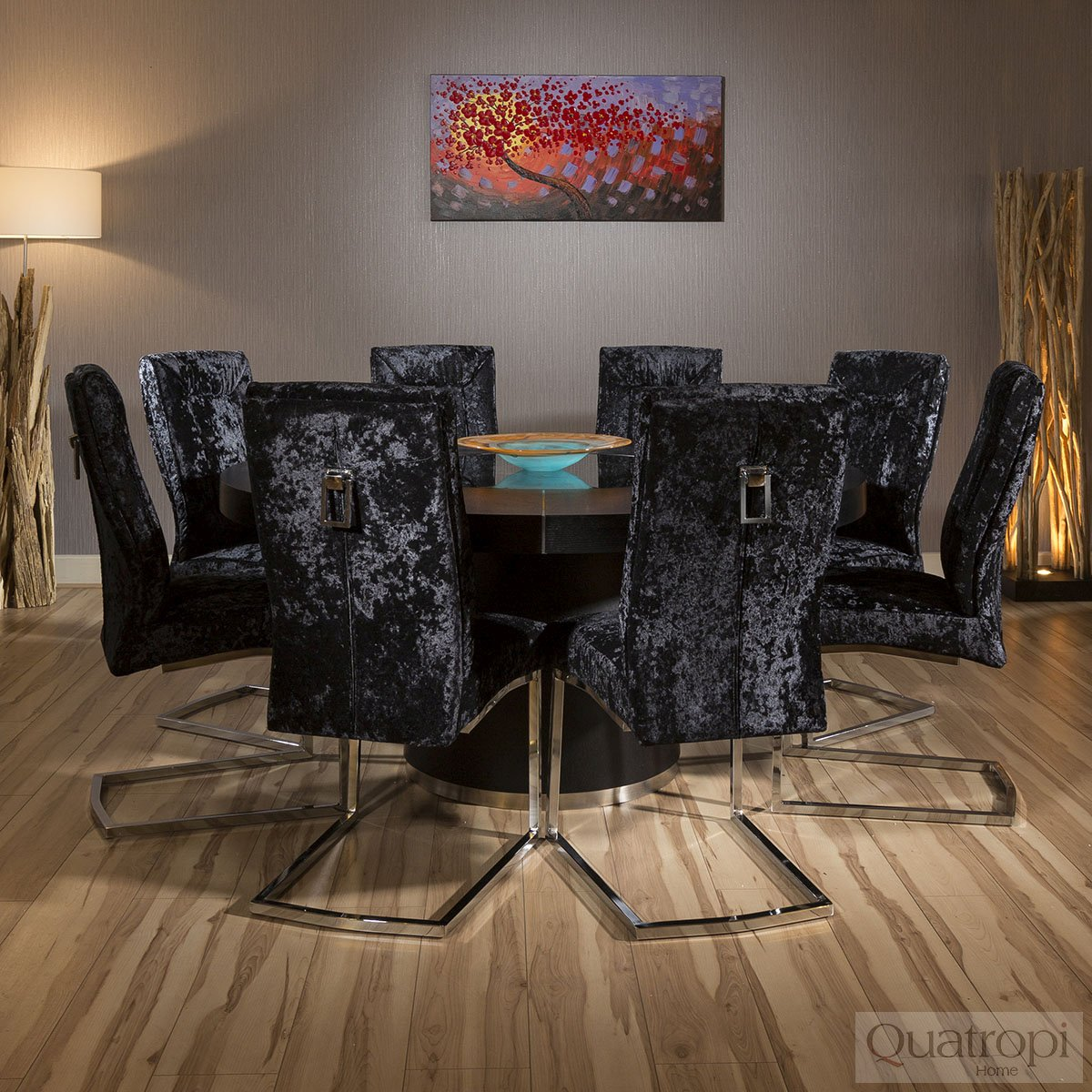 large round oak dining table 8 chairs metal chair accessories luxury black velvet extra