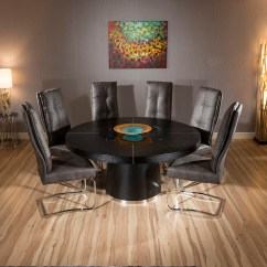 Round Oak Table And 6 Chairs Outdoor Bar Chair Large Black Dining 43 Extra Comfy