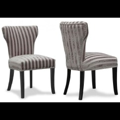 Striped Dining Chair Gaming Target Luxury Set Of 2 Wing Back Fabric Chairs Mink
