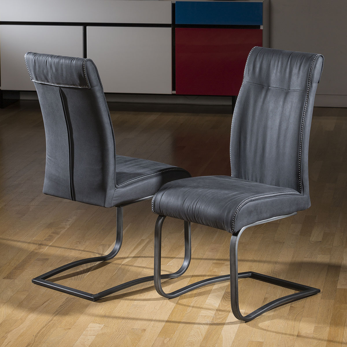 Super Comfy Chair Pair Of 2 Extra Large Super Comfy Padded Dining Chair Grey
