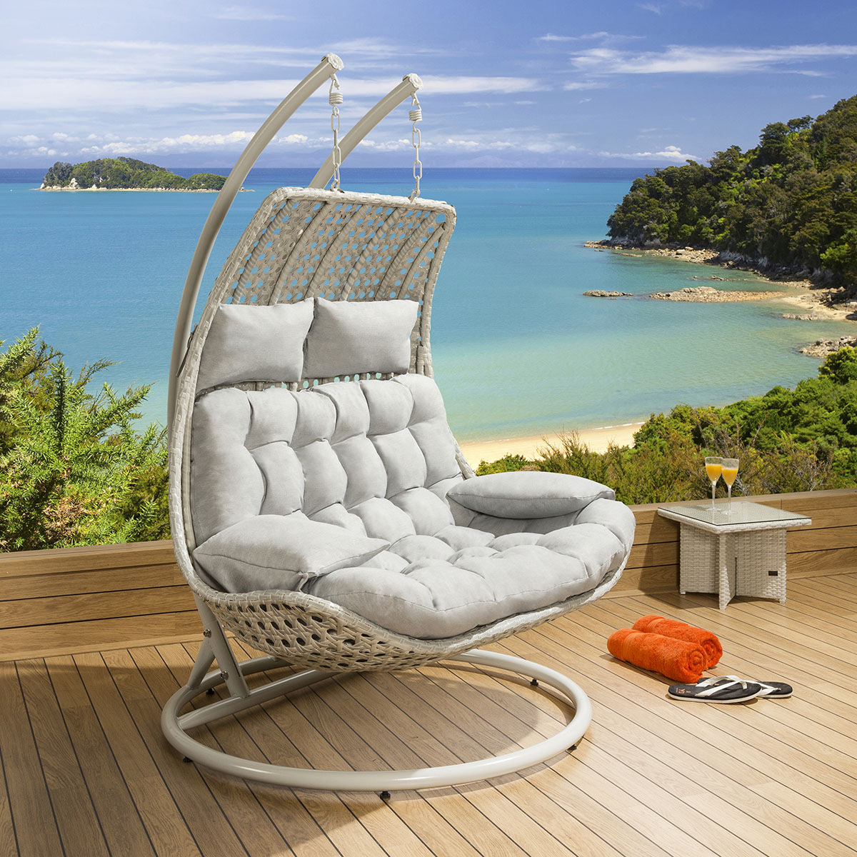 patio hanging chair kitchen table with 8 chairs outdoor rattan 2 person garden sunbed