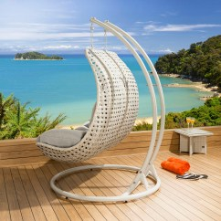 Outside Hanging Chair Uk Dining Table And Set Outdoor Rattan 2 Person Garden Sunbed