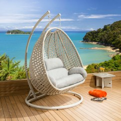 Hanging Chair Luxury Fold Out Lawn Outdoor 2 Person Garden Pod Swing