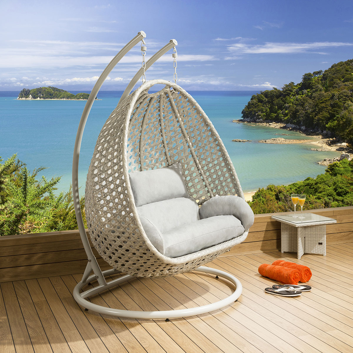Double Egg Chair Details About Garden Double Hanging Egg Chair In Light Grey Stone Heavy Duty New