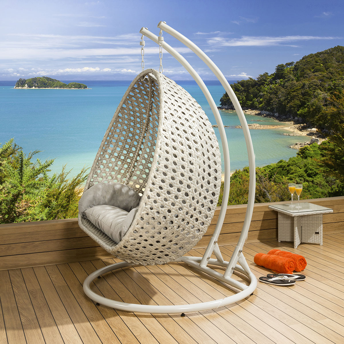 hanging chair luxury portable high baby outdoor 2 person garden pod swing
