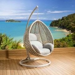 Garden Egg Chair Covers Swivel Set Luxury Outdoor Suspended Pod Cocoon Stone