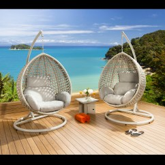 Garden Egg Chair Uk Farmhouse Style Chairs Luxury Outdoor Suspended Pod Cocoon Stone