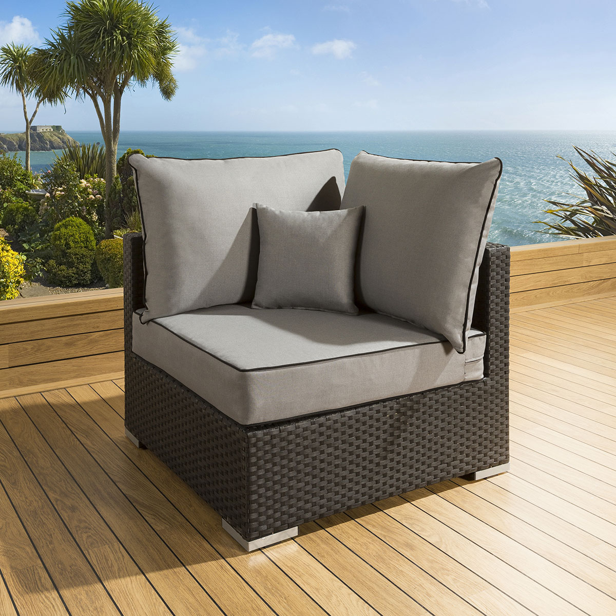 outdoor corner sofa weather cover sofascore basketball livescore luxury garden piece rattan black grey