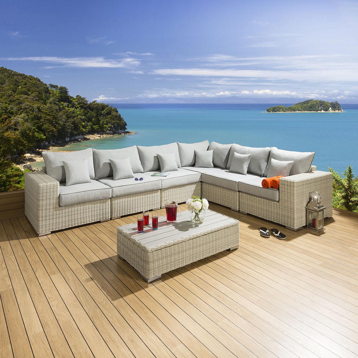 corner sofas for conservatories mage recliner sofa garden conservatory furniture set group stone
