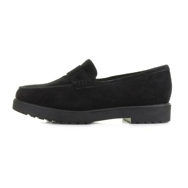 Womens Clarks Bellevue Hazen Black Suede Leather Loafers
