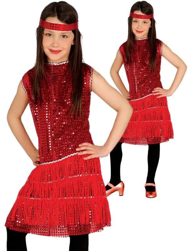 Girls Charleston Flapper Costume Childs 1920s Fancy Dress