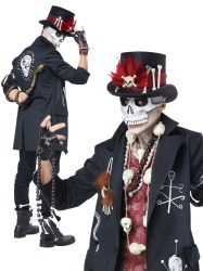 witch voodoo doctor costume dude halloween mens couples fancy ladies magic clothes