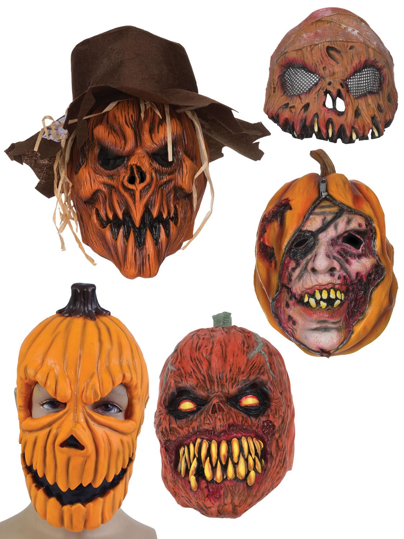 Adults Pumpkin Mask Halloween Fancy Dress Costume