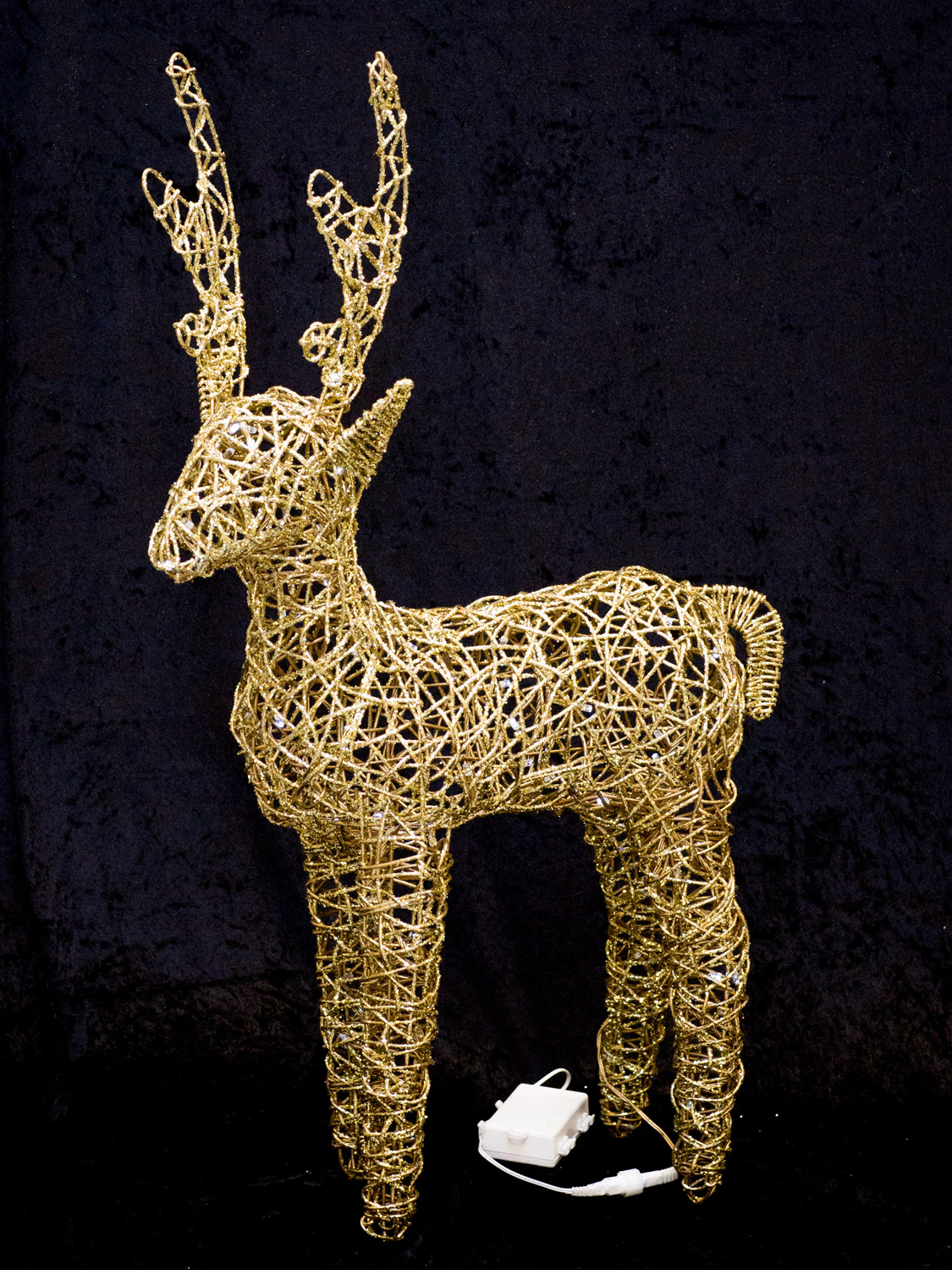 Light Up Glitter Christmas Reindeer LED Outdoor Garden