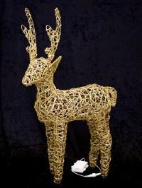 Light Up Glitter Christmas Reindeer LED Outdoor Garden ...