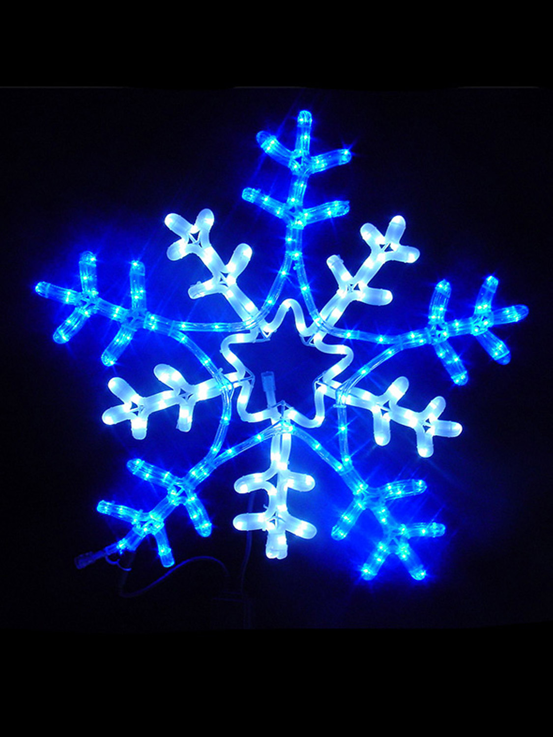 Christmas LED Outdoor Rope Light 65cm Snowflake Star