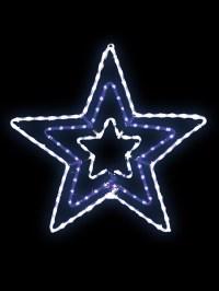 Christmas LED Outdoor Rope Light 65cm Snowflake Star ...