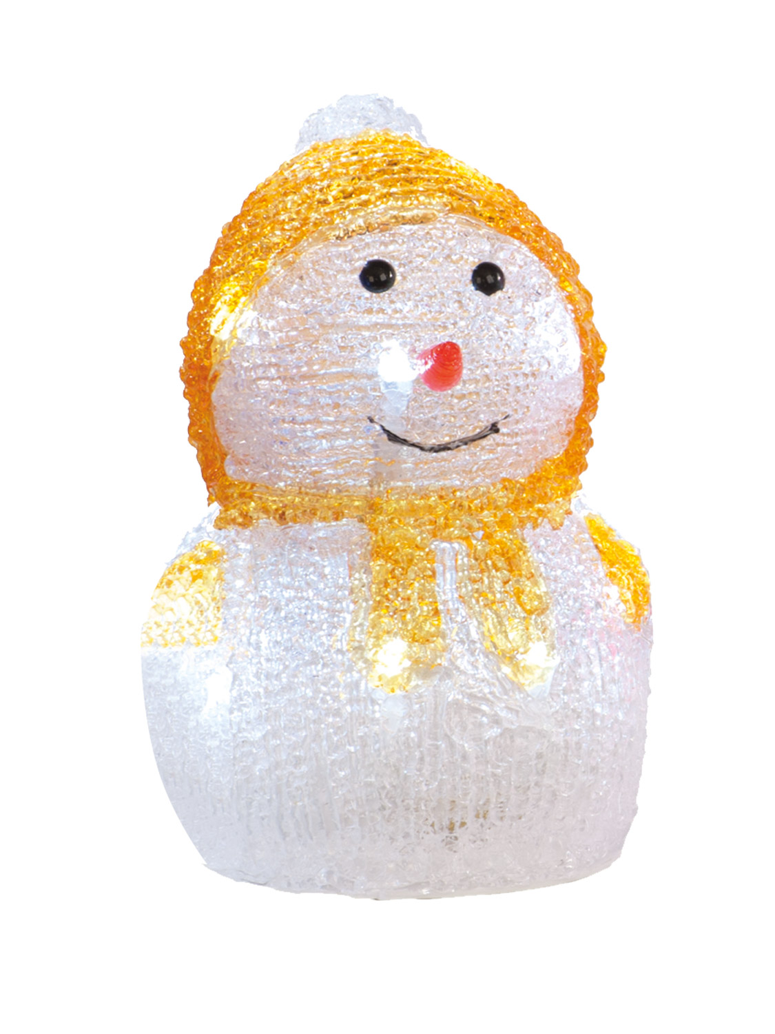 Light Up Acrylic Snowman Christmas Indoor LED Decoration