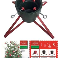 Chair Leg Covers Christmas Accessories Metal Tree Stand Base Cover Red Black Four