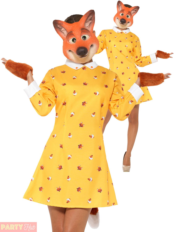 La S Mrs Fox Costume Fantastic World Book Day Fancy