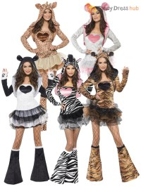 Ladies Fever Sexy Animal Fancy Dress Costumes Womens Hen ...