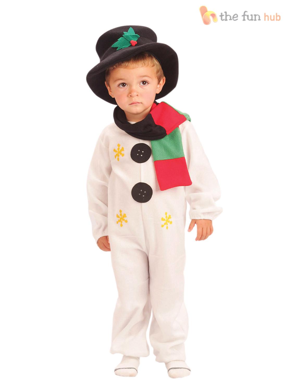 Kids Child Snowman Costume Age 2