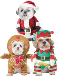 Dog Christmas Fancy Dress Costumes Santa Elf Funny Pet Cat