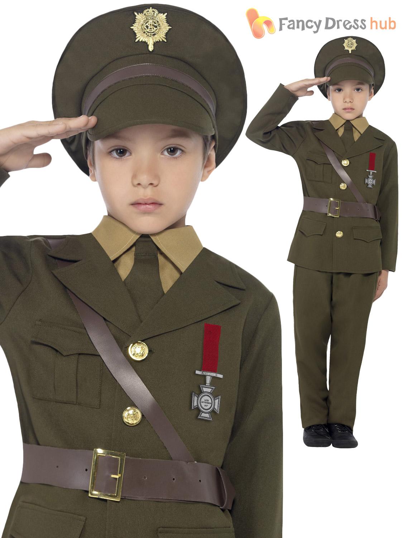 Boys Army Officer Uniform World War 2 Ww2 Ww1 Book Week